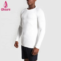 Wholesale Fashion Design Men's Long sleeve Blank T-shirts