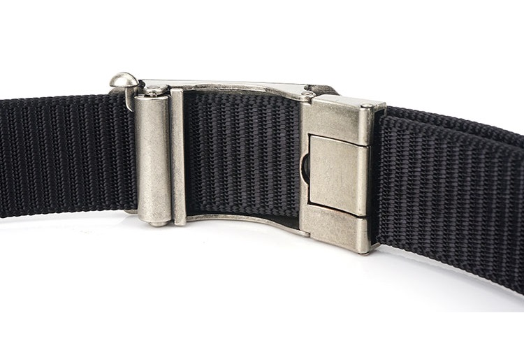 Men's plain Nylon flat waist Belts with attractive fashion metal Buckle