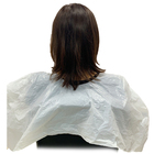 Pe Logo Plastic Vinyl Disposable Waterproof Beauty White Custom Hair Salon Cape