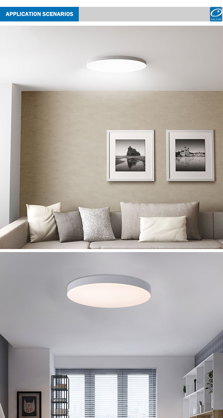 Ultra Thin Residential Lighting Round Acrylic Milky Panel Led Ceiling Light