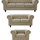 Wholesale Custom Living Room Furniture KD Chesterfield Sofa Set 1+2+3 Seater For Living Room