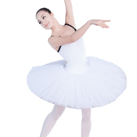 Factory Direct Sales Professional 8 Layers Classical Ballet TuTus Skirt White TuTu For Girls