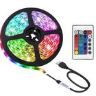 Smd Rgb Light Strip Led Ledrgb 5050 Rgb Led Strip DC 5V USB 2M 60LED 5050 SMD RGB Light Strip Set LED Strip Kit With 24key Remote Controller Adapter