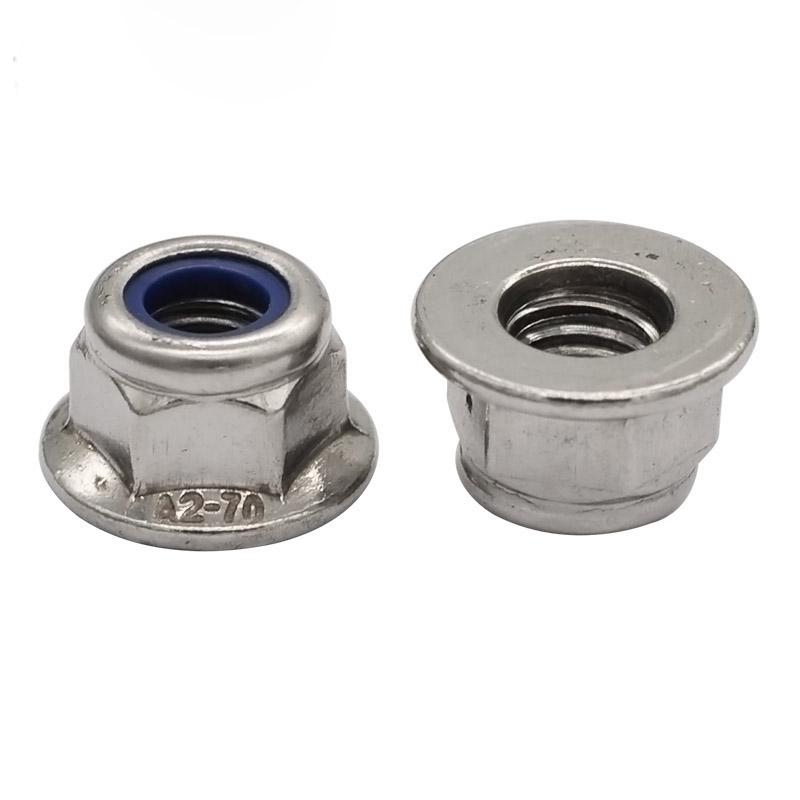 304 Stainless Steel DIN 6926 Hex Flange Nylock Nut