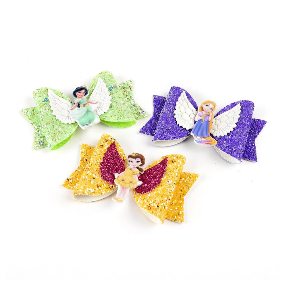 Милые блестки, блестки, принцесса, Детские банты для волос, двойная вилка, зажим для маленьких девочек, банты для волос для девочек, 981 для волос