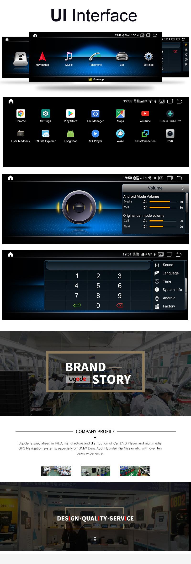 एंड्रॉयड GLC सी कक्षा W205 रखने Autoradio 10.25 इंच टच स्क्रीन कार जीपीएस
