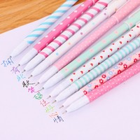 Cute partysu 10 color gel pen set with plastic box pack customized logo available