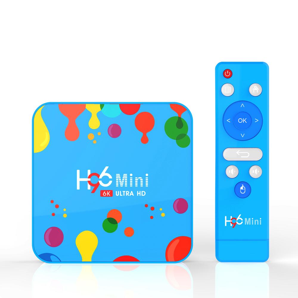2019 New Android 9 0 TV Box Smart TV Box Media Player TTV Box 4GB 32GB H96  Mini Allwinner H6 Quad Core 6K