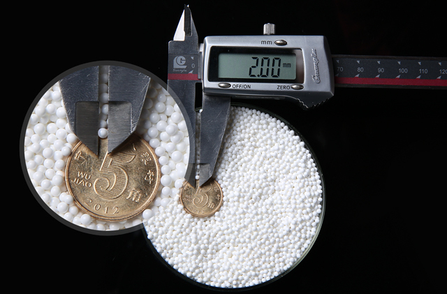 95%0.1-0.4mm Yttria Stabilized Zirconium Oxide Zirconia Ceramic Milling Ball