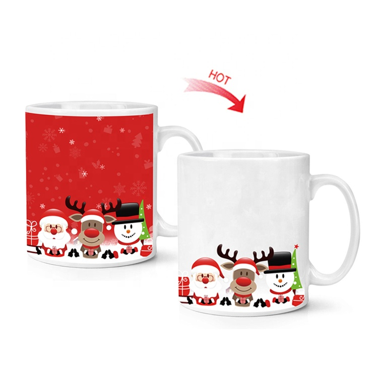 christmas decoration christmas gifts Color changing magic mug wholesale prices