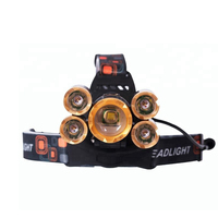 Super Bright 5 LED XML T6 2000Lumen High Power Zoom Led headlamp rechargeable waterproof for Cycling Running Camping Hiking