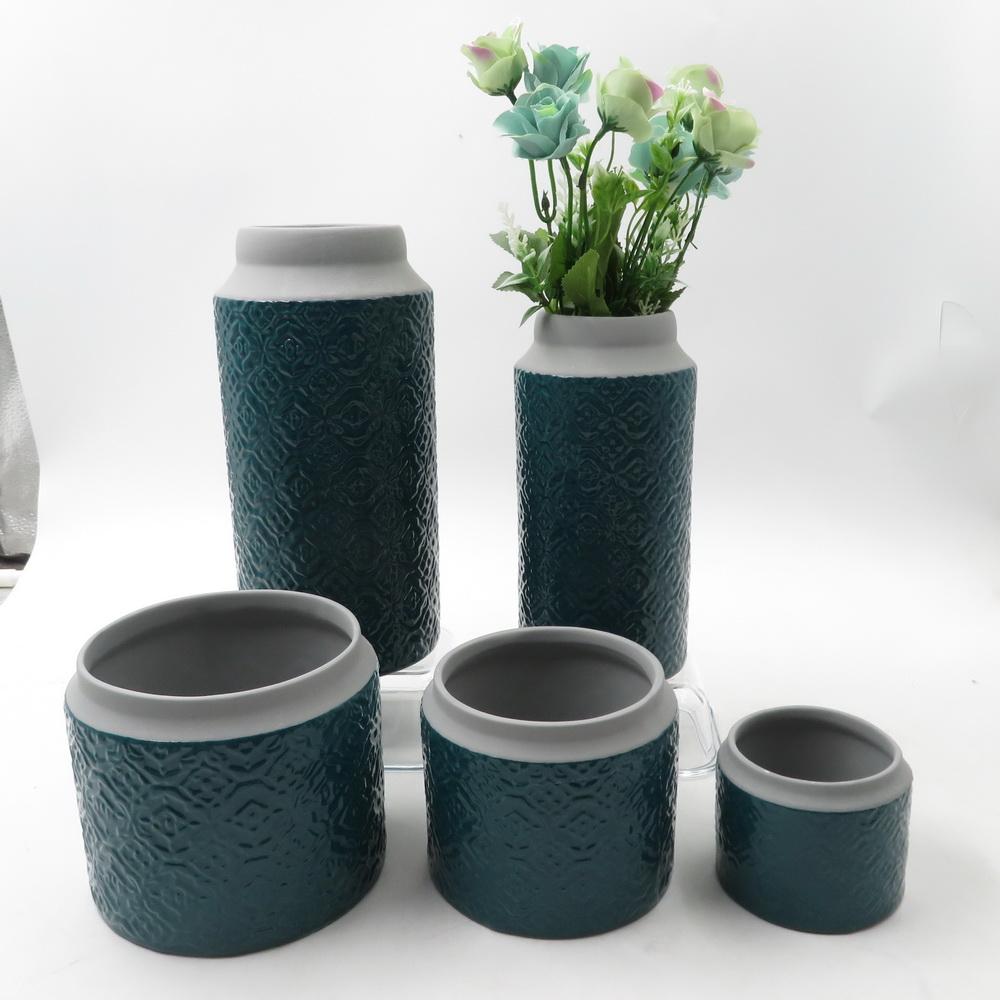 Floor decoration flower floral pearlized ceramic vase