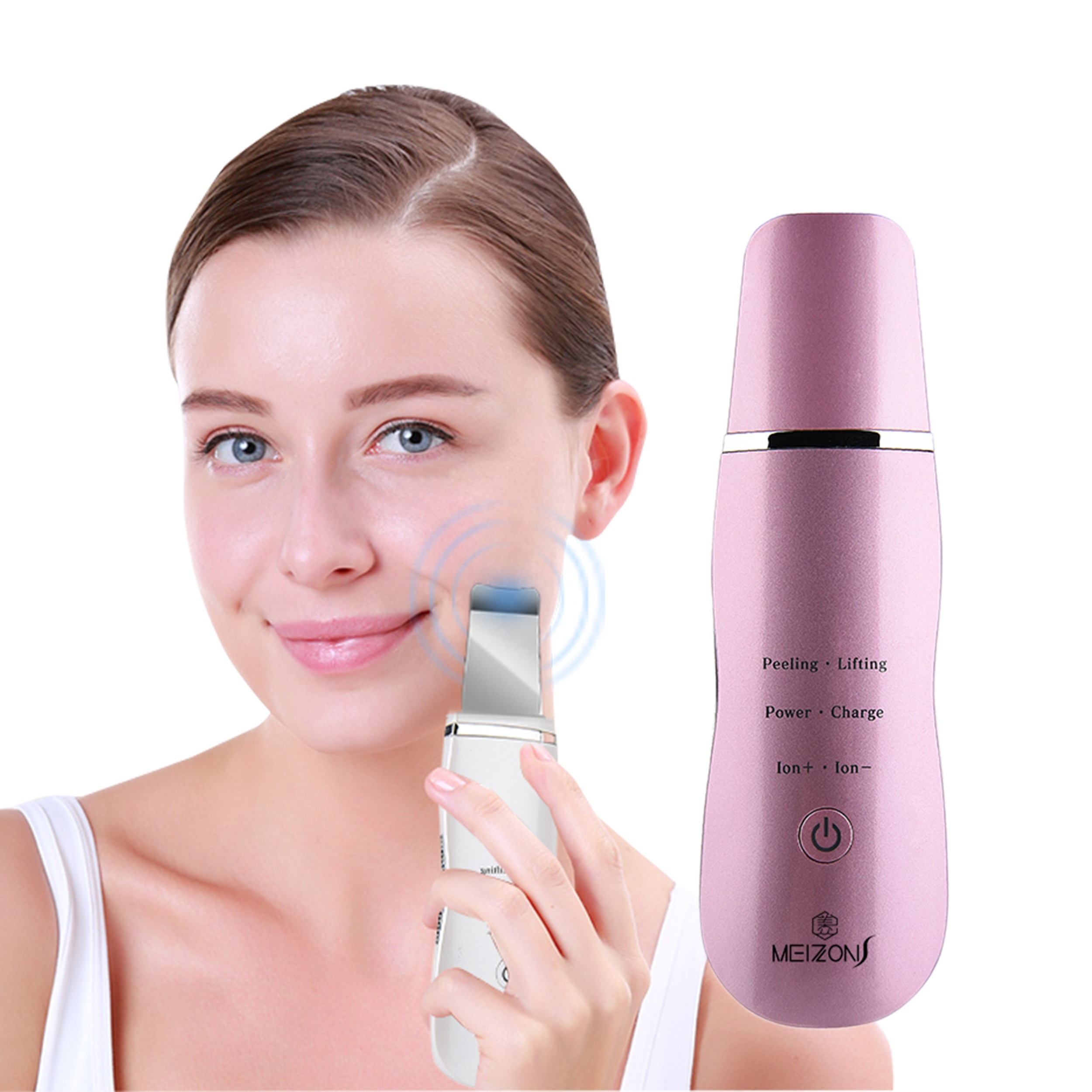 New Product 2019 Amazon Hot <strong>Sale</strong> Beauty Skin Scrubber Ultrasonic <strong>for</strong> <strong>Home</strong> Use