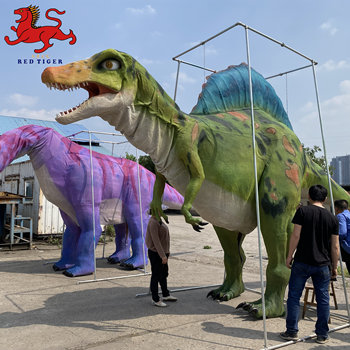 Life size giant 8 meters robotic dinosaur costume for outdoor playground