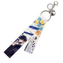 Demon Slayer: Kimetsu No Yaiba брелок мультяшный ленточный брелок популярное аниме кольцо для ключей самый популярный корейский аксессуар для рюкзака(Китай)
