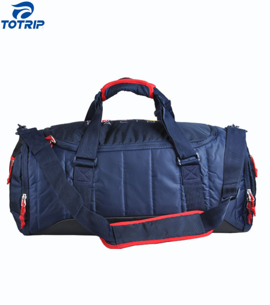 Nylon cotton-padded outdoor sportwear bag with shoe compartment