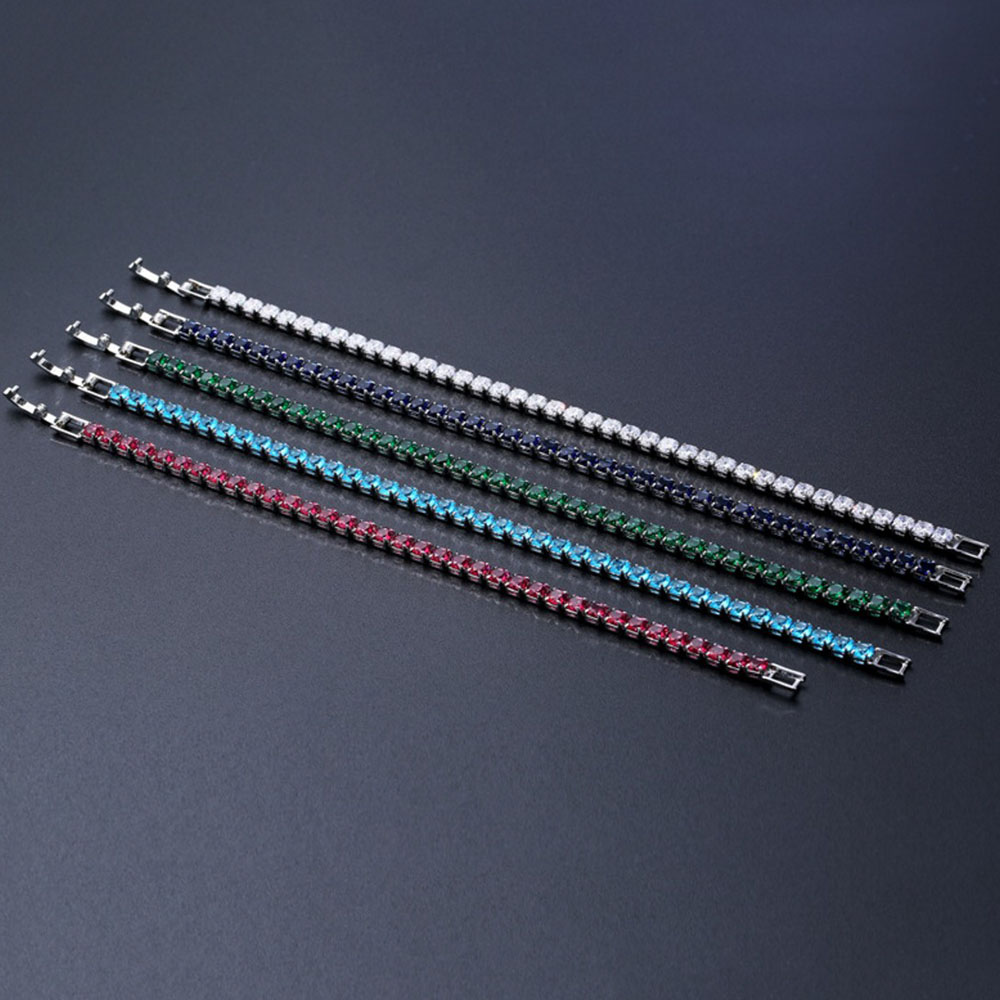Stylish Hot Selling Wholesale Customized 4MM Size Women Micro AAA CZ Tennis Bracelet Jewelry