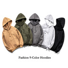 Hoodie Sets Men Customized Logo Long-sleeve Embroidered Hoodie With Velvet Print