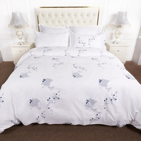 Hight quality new design bed linen cotton single queen hotel bed sheet set