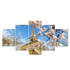 Paris Spring Days Eiffel Tower Sakura Art Painting On Canvas Wall Picture