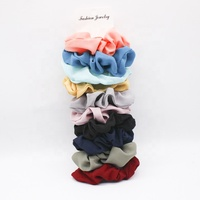 New Colorful Girls Women Ponytail Hair Scrunchies Fashion Korean Style Fabric Elastic Hair Band