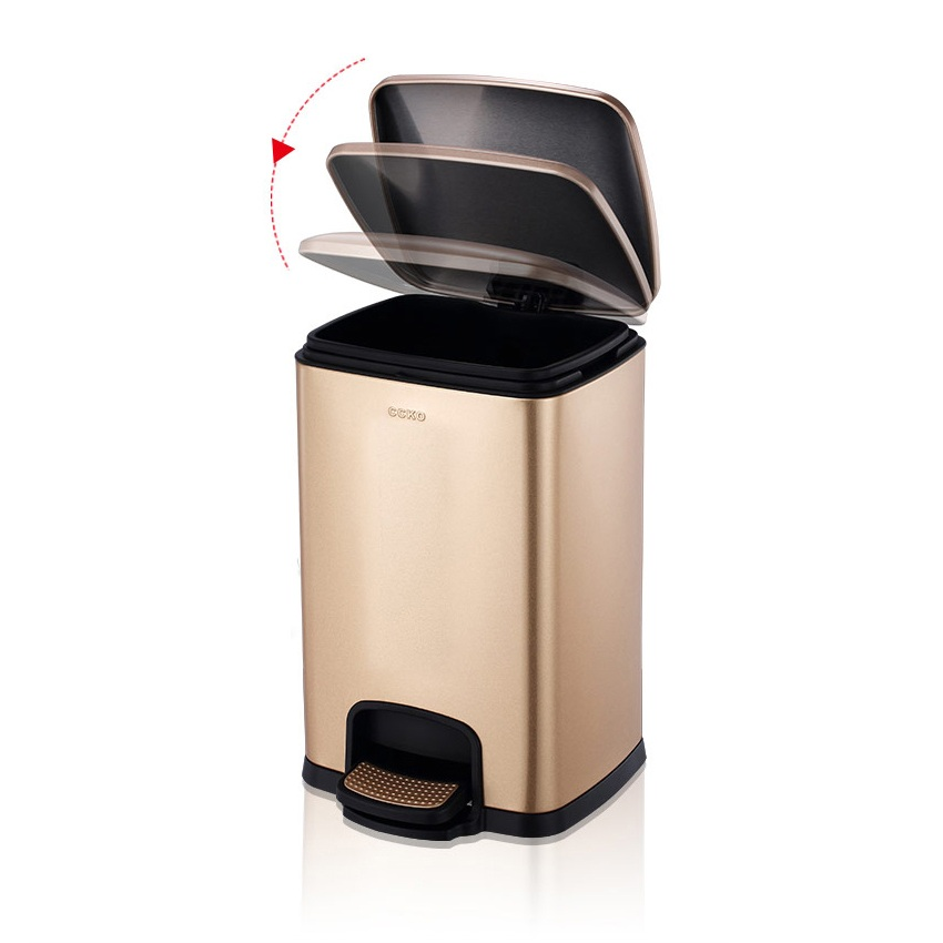 Hotel Room Stainless Steel Foot Pedal Dustbin