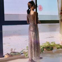 Женское платье на бретельках It's Yiiya, платье для выпускного вечера с v-образным вырезом и блестками, платье для выпускного вечера, размеры плю...(China)