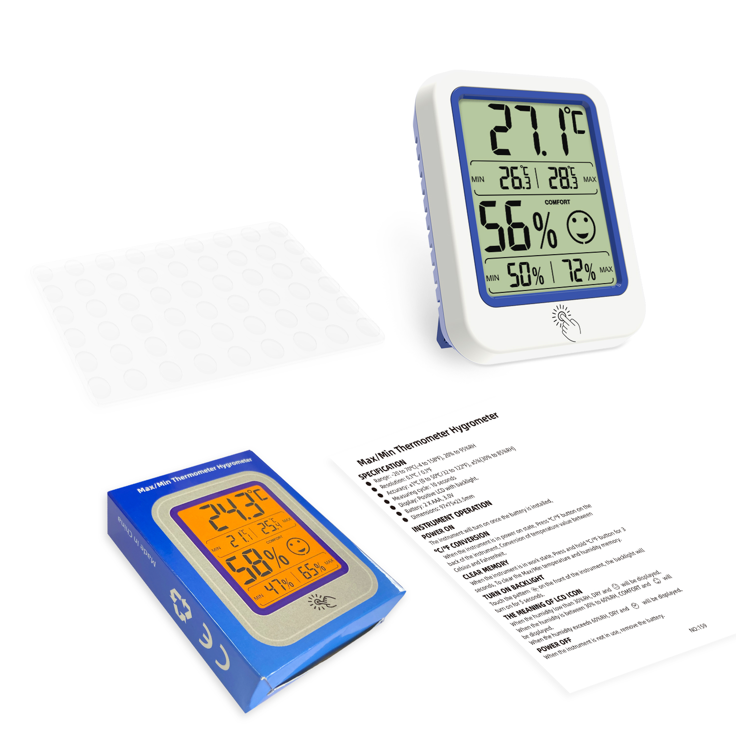 Digital Hygrometer Indoor Thermometer Humidity Gauge Indicator Room Thermometer Accurate Temperature Humidity
