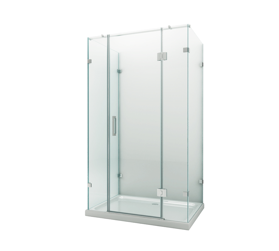 3 side frameless Hinge glass shower door with CE certificate interior door