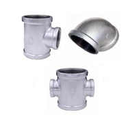 Black malleable iron pipe fitting floor flange MI GI galvanized iron fittings pipe nipple BSP NPT thread