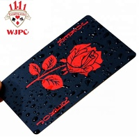 India Plastic Playing Cards Custom Black Pvc Playing Cards With Logo