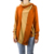 OEM Winter sweater for young women casual warm woolen contrasting orange color one button sweater with scarf