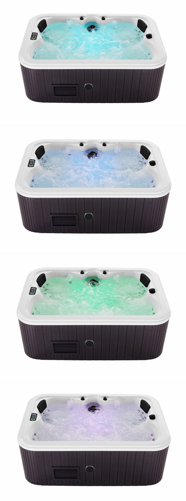 neck shoulder massage hydro jets outdoor 3 person spa soft tubs hot tub bathtub