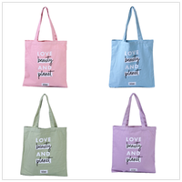 Promotional Custom Logo Printed Organic Calico Cotton shopping Bag Canvas Tote Bag
