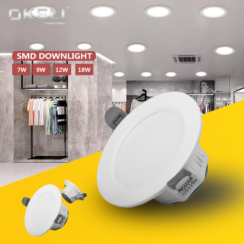 High quality indoor decoration ce rohs 15w 18w SMD ceiling recessed led <strong>downlight</strong>