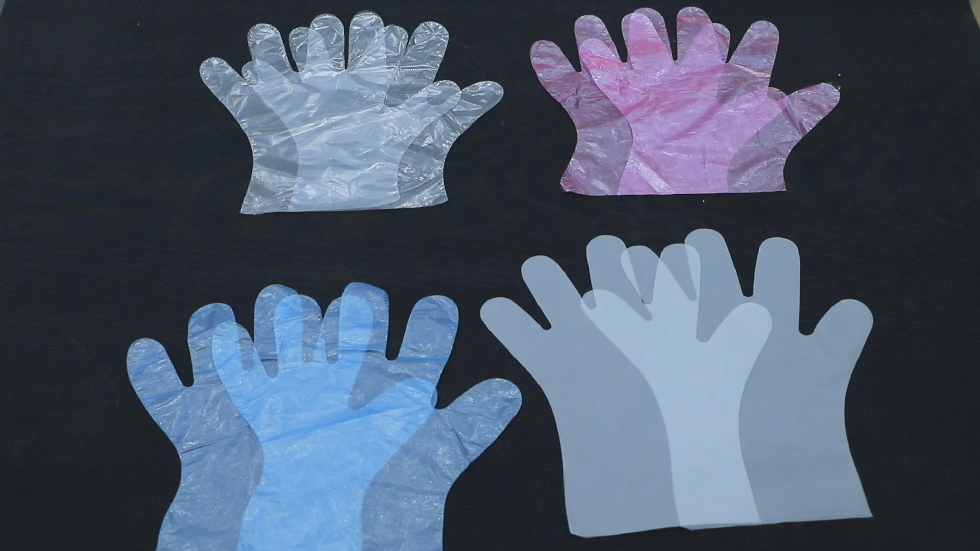 HDPE Clear Color Plastic Polythene Disposable Glove