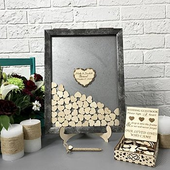 Vintage Frame Guest Book Hearts Drop Box Guest Book Idea Alternative Drop Box