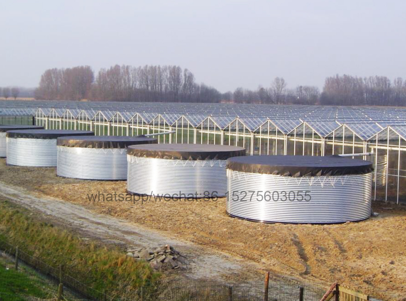 10000 liters Corrugated Steel Tanks galvanized water reservoir