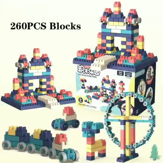 Toys Gifts For Kids 2020 Trending Plastic Educational Toys Assembly Puzzle Initiation Plastic Cube Building Block Toys