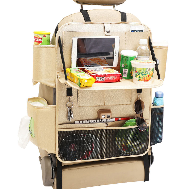 Органайзер для автомобильного сиденья, универсальный органайзер на спинку сиденья автомобиля, складной настольный держатель для планшета,...(Китай)