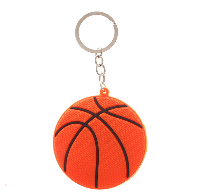 Rubber Keychain Basketball Custom Fans <strong>Gift</strong> 2D <strong>Cute</strong> PVC Football Club Keychain