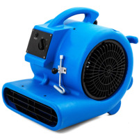 LIXING 3/4HP 3000CFM ETL/SAA/CE Listed Air Mover Floor Dryer Carpet Blower Roto-Mold Housing for Water Damage Restoration