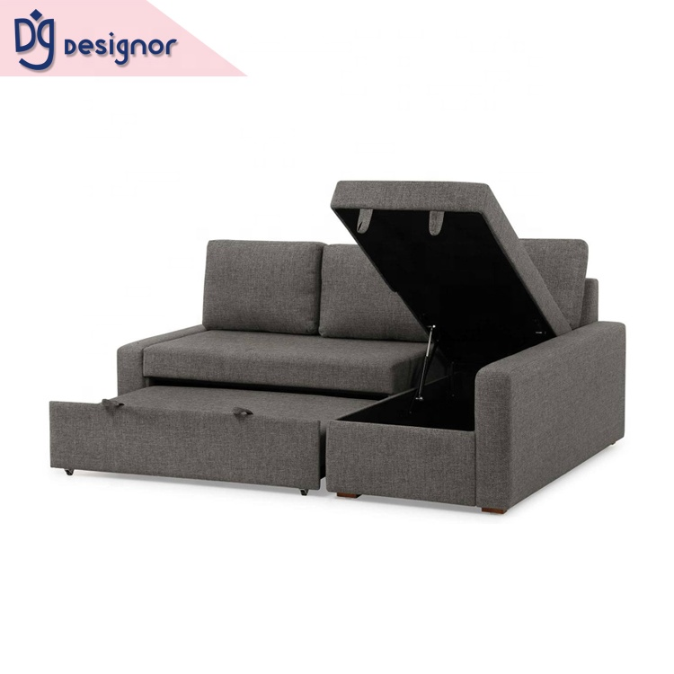 Dg Good Quality Sectional Corner L Shape Sofa Cum Bed With Storage