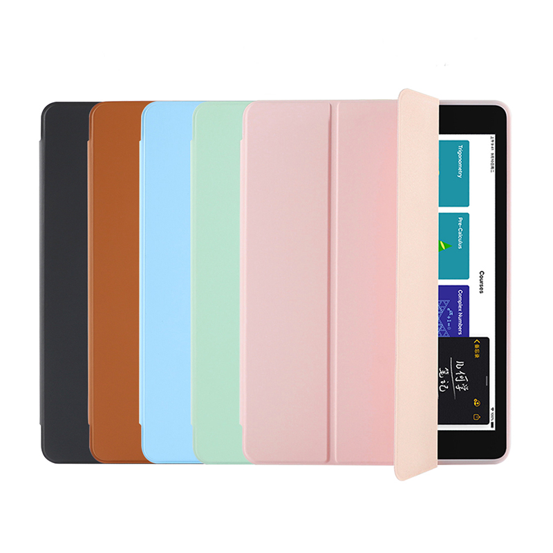 10.2 inch new arrival candy color protective pu leather flip cover cases for <strong>ipad</strong> 10.2 released in 2019
