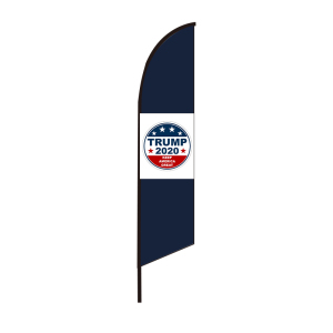 Trump 2020 Good quality outdoor blade teardrop feather flying custom beach banner flag