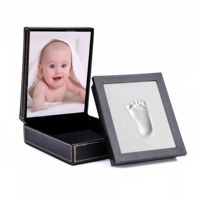 Baby Handprint Kit Baby Picture Frame, Baby Footprint kit, Perfect for Baby Boy Gifts Baby Footprint Clay Kit