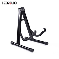 Black Colorful Portable Foldable Single Floor Guitar Stand For Acoustic Electric Musical Instrument Universal Display