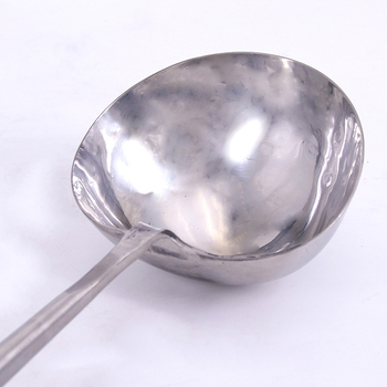 Handmade Forged 304 Stainless Steel Hotel Commercial Cooking Spoon Long Handle Vintage Shovel Spoon