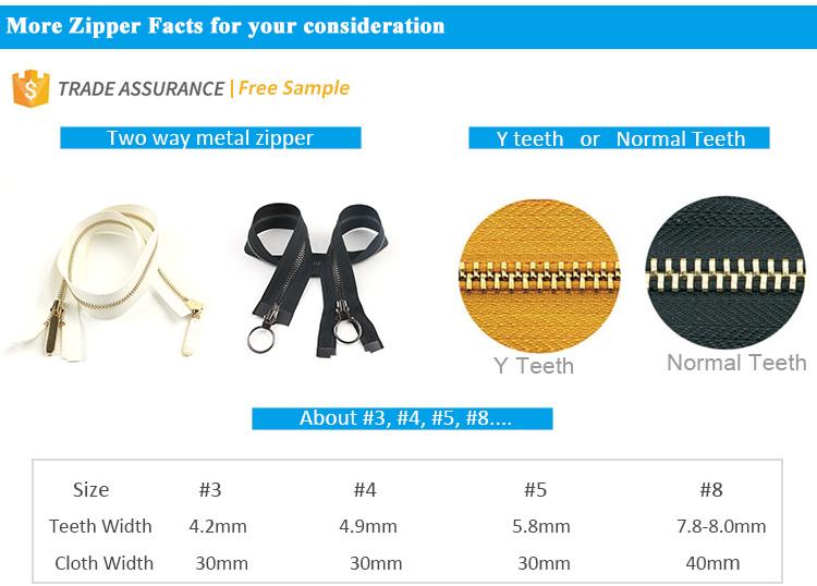 High Quantity Factory Direct Supply Custom Metal Zipper Long Chain
