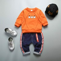 Autumn Baby Girl Boy Clothing Sets Infant Clothes Suits Casual Sport T Shirt Pants Kid Child Clothes Suits
